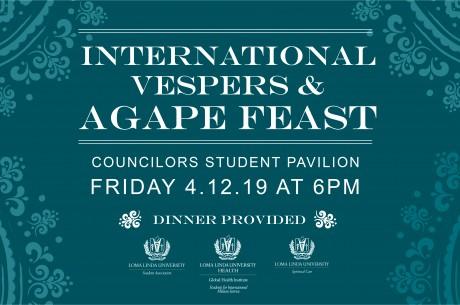 International Vespers & Agape Feast on April 4