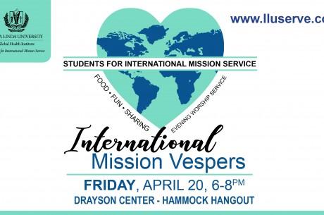 International Mission Vespers - Friday, April 20